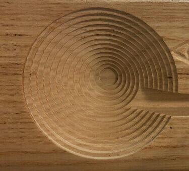 Atelierul de pe insula servicii CNC lemn detaliu 3